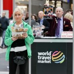 Photograph of friendly staff looking after visitors to WTM, Excel