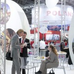 Photograph of delegates networking on Czech Republic's stand at WTM, London