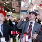 Photograph of exhibior waiting for delegates verdict on wine tasting at LWF