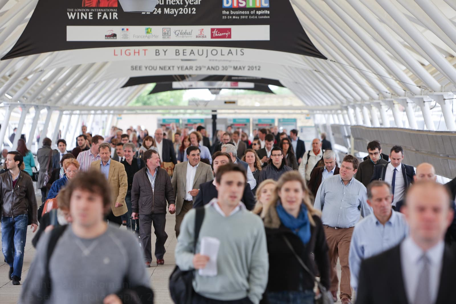 Photograph of crowds of delegates decending on LWF at Excel in London