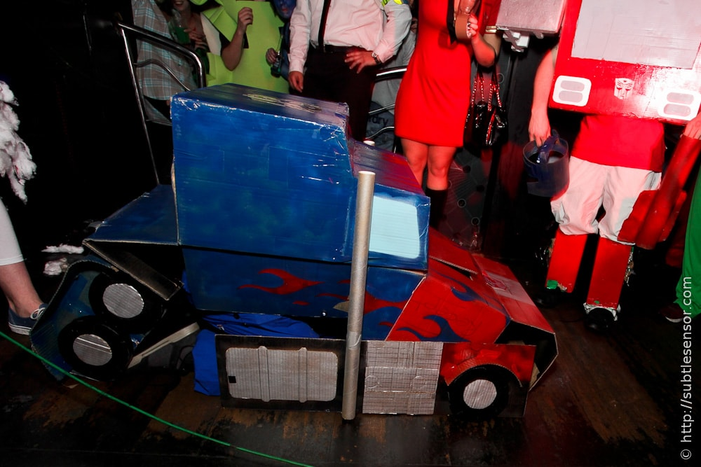 Home-Made Optimus Prime fancy dress costume
