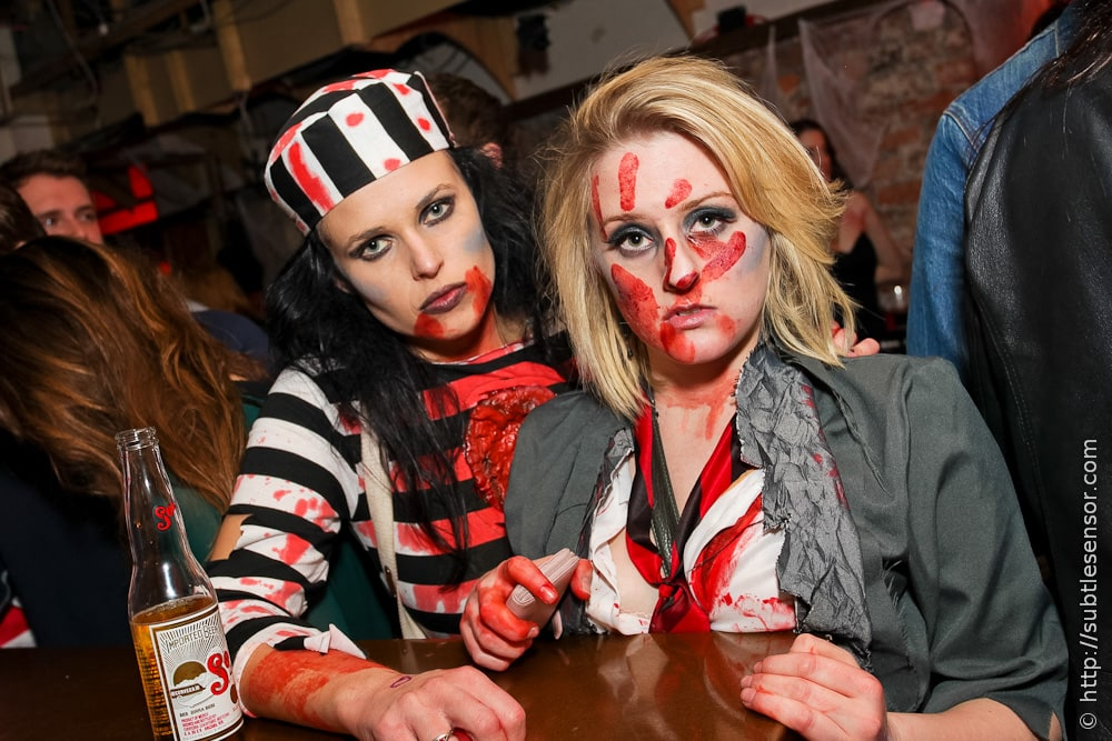 Zombie Prisoner girl and murder vicitm Halloween costumes