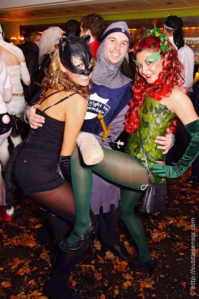 Poison Ivy, Sexy Kitten and Sir Shagalot fancy dress outfits