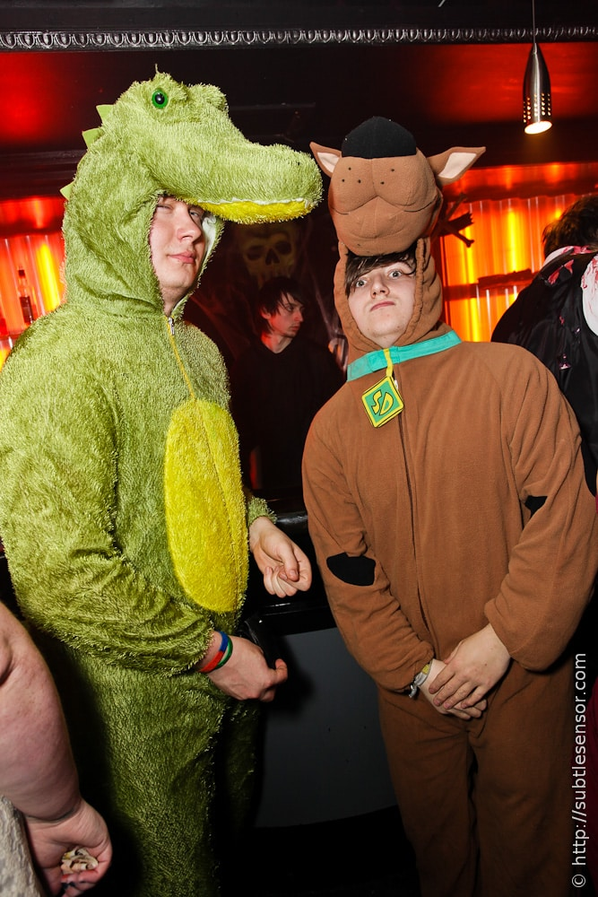 Scooby Doo and Dinosoar fancy dress costumes
