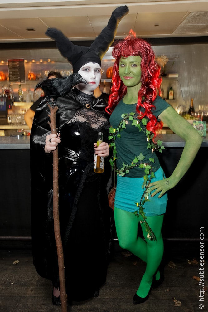 Poison Ivy and Black Crow Witch Halloween costumes