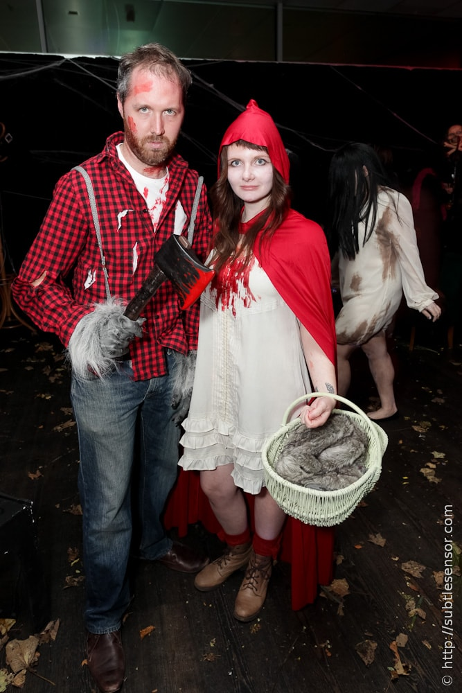 Red Riding Hood and Were Wolf Woodsman Halloween costume