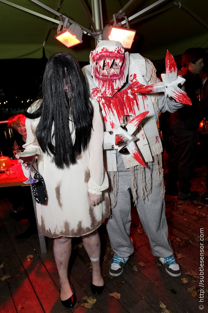 Scary home-made Halloween costumes
