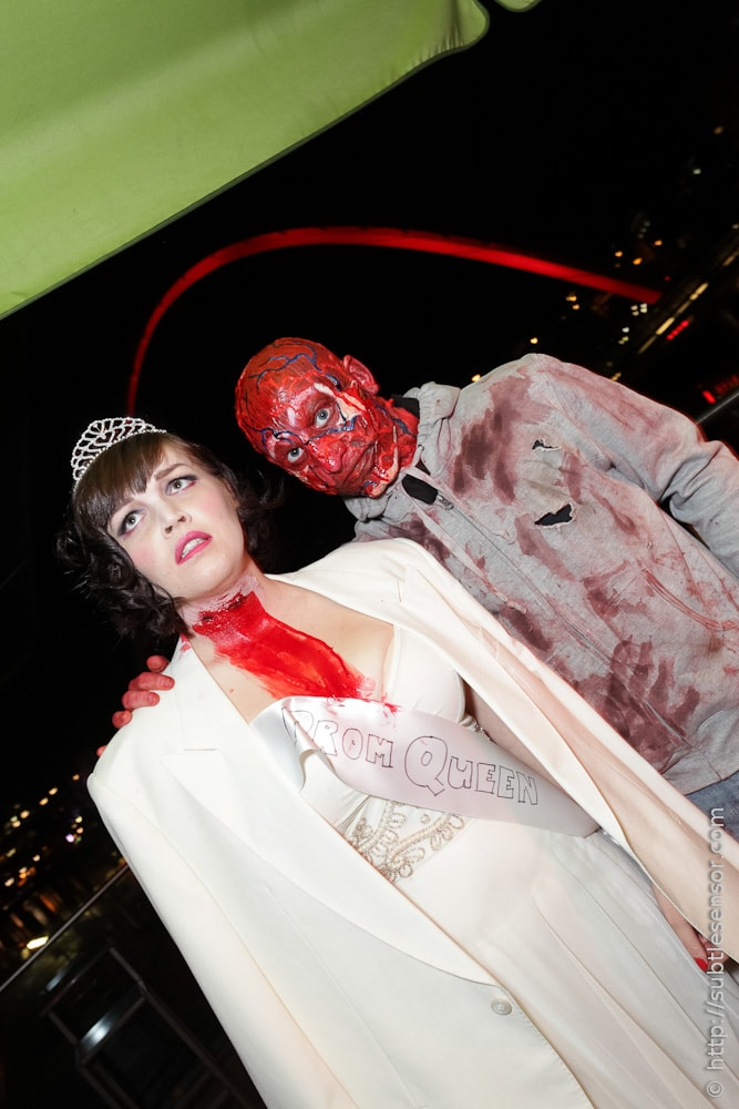 Burns Victim and Murdered Prom Queen Halloween costumes