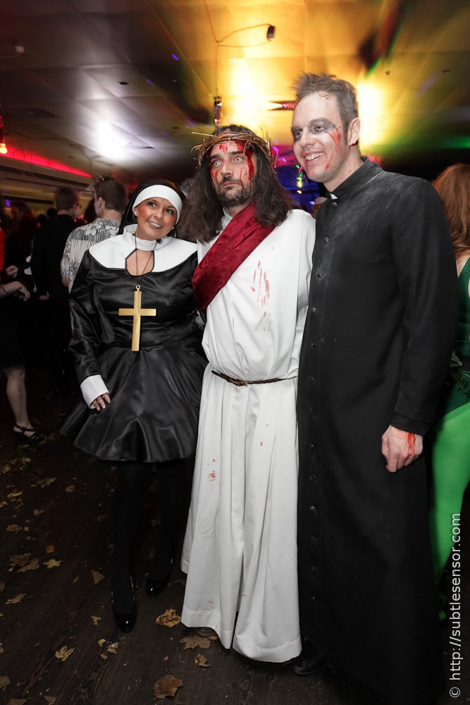 Zombie Jesus, Nun and Priest ostumes at Halloween