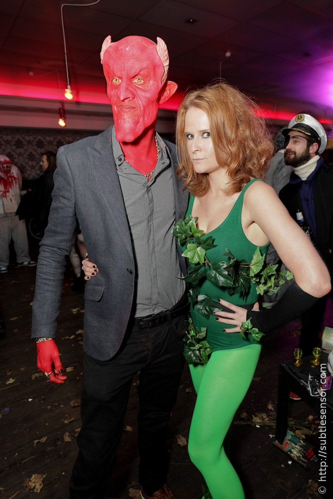 Satan and Poison Ivy Halloween costumes