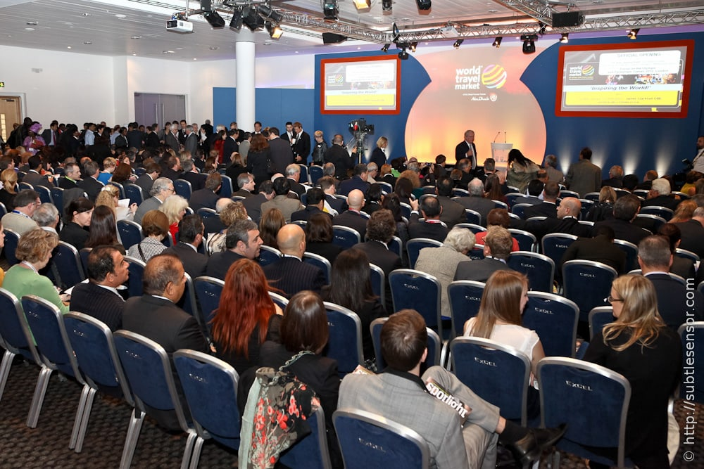 Shot of crowd in conference at WTM 2011