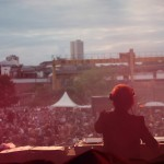 DJ Maya Jane Coles performing in front of crowds at Evolution Festival