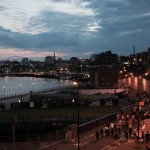 Crowds headint home along Newcastle quaysaide after Evolution 2012