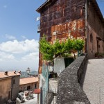 A weather beaten village house in the Alban hills of Italy