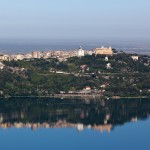 View over Lake Albano, Rocca di Papa, Italy - ,looking toward the Pope's summer home
