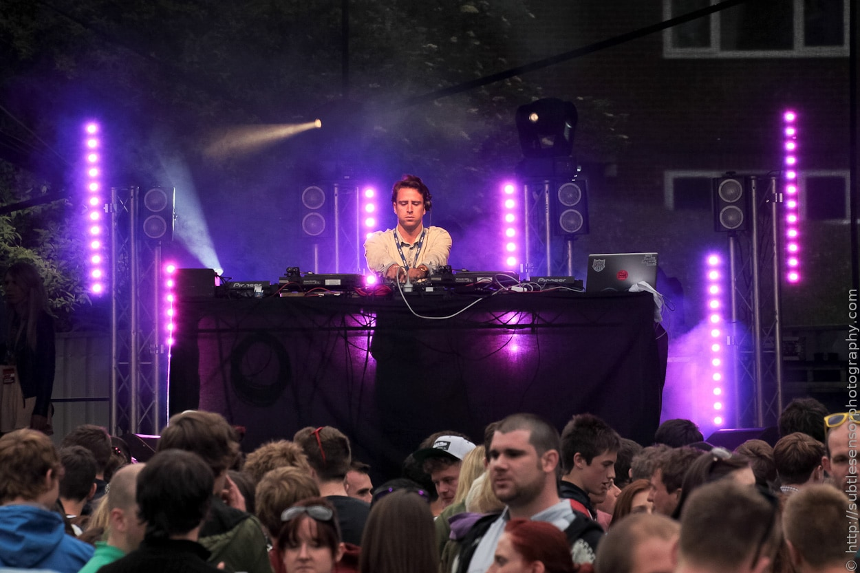 Glasgow based DJ, Jackmaster performing at Evolution 2012