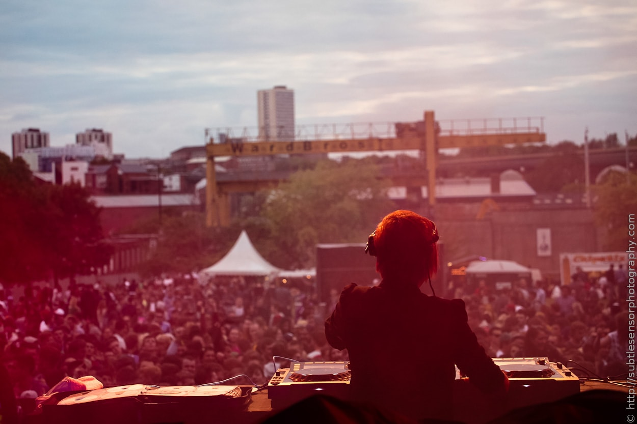 DJ Maya Jane Coles performing at Evolution Festival 2012
