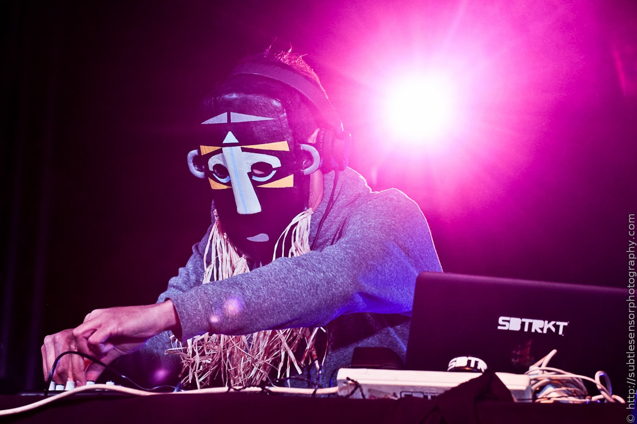 SBTRKT onstage at Evolution Festival 2012, Day 2