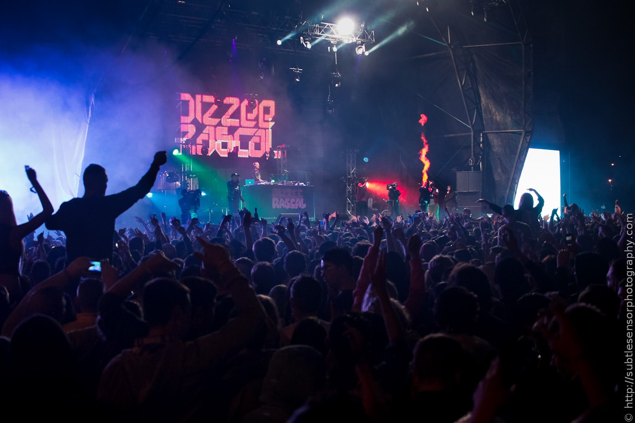 Returning to Newcastle for the second year, Dizze Rascal performs live at Evolution Festival