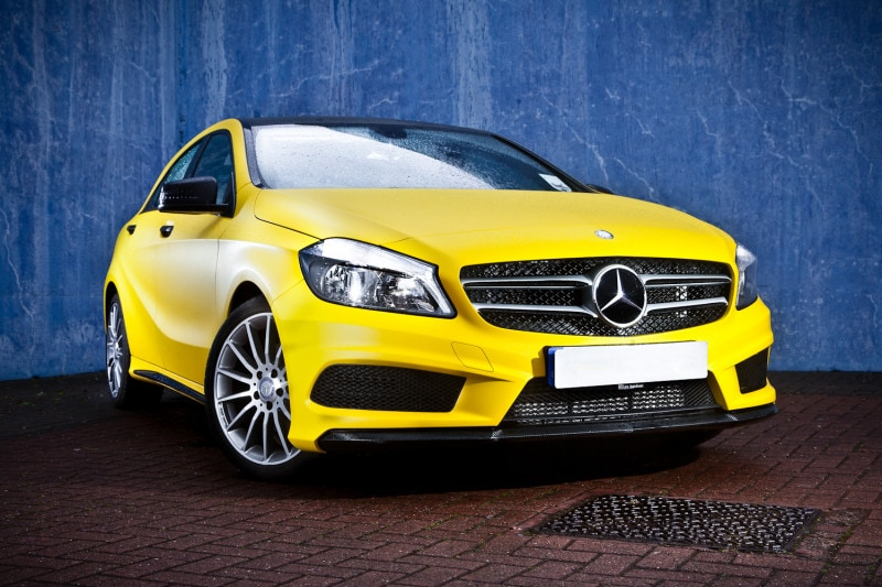 IMG_1623 merged-EditMatte Yellow Mercedes A-Class Daniel Romani - Subtle Sensor Photography
